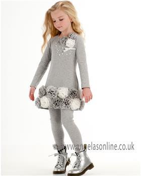 Kate Mack girls dress & legging 100DL-103DL-17 Grey