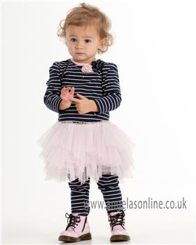 Kate Mack girls dress & legging 111SS-113SS-17 Navy