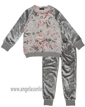 Kate Mack girls sweat top & pant 506RC-508RC-17