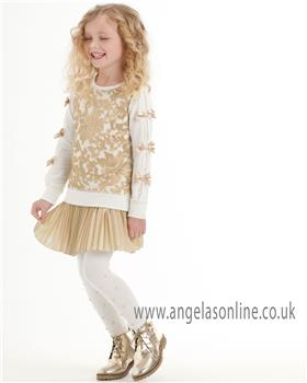 Kate Mack girls 2 piece outfit 578SG-580SG-17 Gold