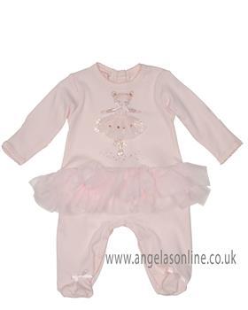 Kate Mack baby girls long sleeve footie 360DD-17 Pink