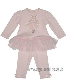 Kate Mack girls dress and legging set 361DD-17 Pink