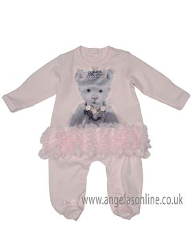 Kate Mack baby girls long sleeve footie 370BB-17 Pink