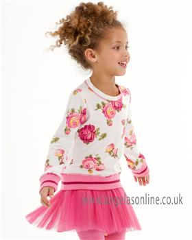 Kate Mack girls floral 2 piece set 616TF-629TF-17