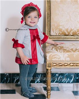Dolce Petit baby girls dress 22-2142-V Grey
