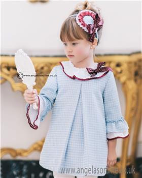Dolce Petit Girls Dress 22-2232-V Blue