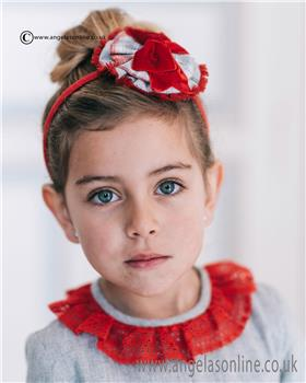 Dolce Petit girls headband 22-2242-D-17 Red