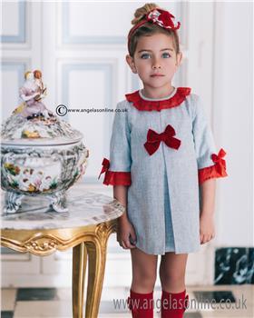 Dolce Petit Girls Dress 22-2242-V Grey