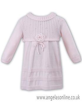 Sarah Louise girls winter dress 008043-17 Pink