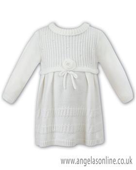 Sarah Louise girls winter dress 008043-17 Ivory