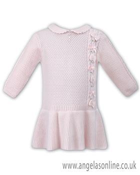 Sarah Louise girls winter dress 008049-17 Pink