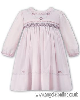 Sarah Louise girls winter dress 010888-17 pink