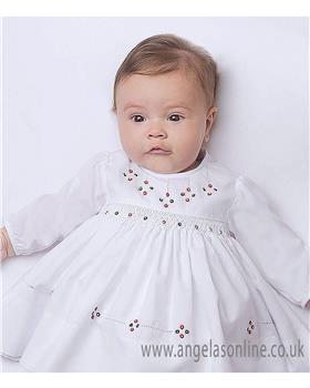 Sarah Louise girls winter dress 010872-17 White