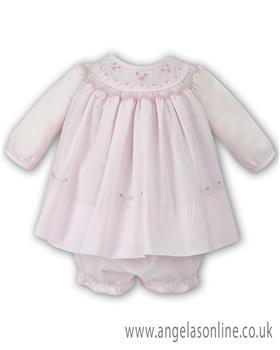 Sarah Louise girls winter dress 010856-17 pink