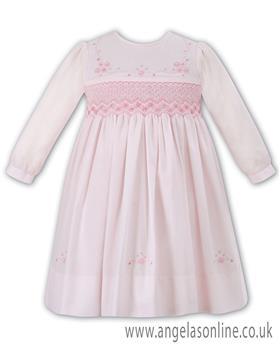Sarah Louise Smocked Dress 010900L-17 Pink