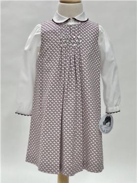 Sarah Louise girls pinafore dress & blouse 010996-010997-17