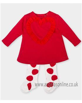Agatha Ruiz girls dress 4222-17 Red