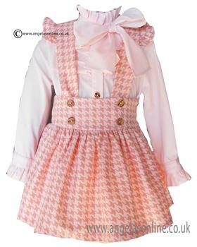 Loan Bor girls blouse & pinafore 8914-17