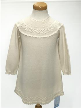 Granlei baby girls knitted dress 2-1208-17 Beige