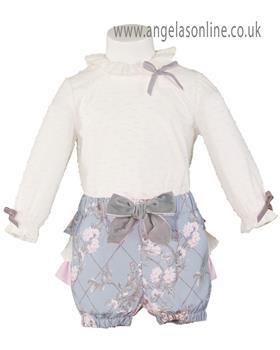 Miranda girls long sleeve top & short set 22-0128-23-17