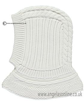 Emile et Rose boys balaclava with cable design Lou 4739wh-17 Wh