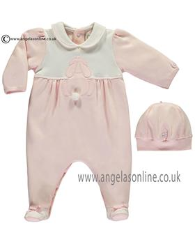 Emile et Rose girls all in one with feet & hat Lily 1719pp-17 Pk