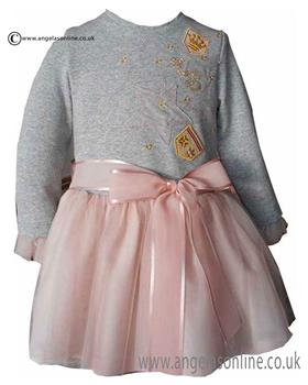 Loan Bor girls dress 8426-17 Grey
