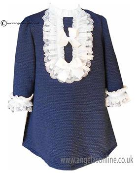 Loan Bor girls dress 8427-17 Navy