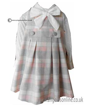Loan Bor girls blouse & pinafore 8924-17 Pink