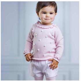Tutto Piccolo girls jumper & short set 3818-3318-17 Pink