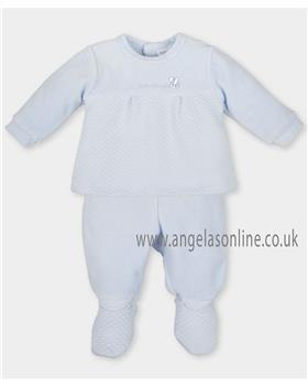 Tutto Piccolo boys two piece sleep suit 3482-17 Blue