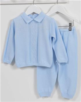 Pex baby boy knitted jumper & trouser Ned B6967-17 Blue