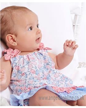 Miranda floral baby girls dress & panty 23-0040-VB