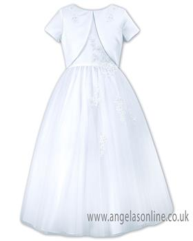Sarah Louise girls holy communion dress 090011 White