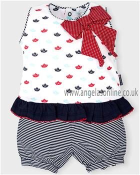 Tutto Piccolo baby girls dress & knicks 4591-18 Navy