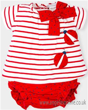 Tutto Piccolo Baby Girls Dress & Knicks 4793-18 Red