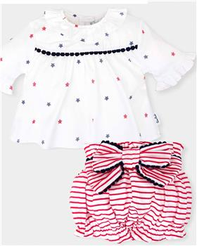 Tutto piccolo girls blouse & short 4114-4815-18 White