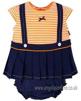 Tutto Piccolo Girls Dress & Knicks 4212-18 Orange