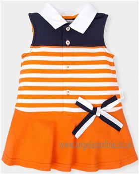 Tutto Piccolo Girls Dress 4244-18 Orange