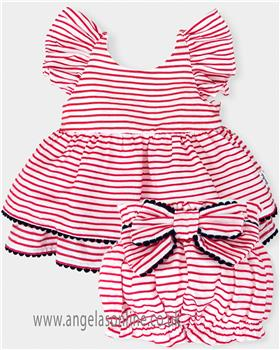 Tutto piccolo girls blouse & short 4214-4815-18 Red