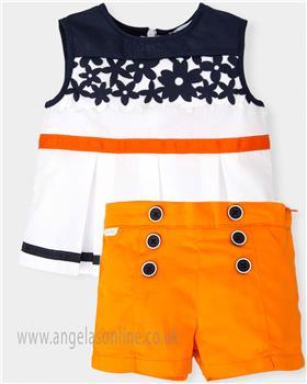 Tutto Piccolo girls top & short set 4744-4644-18 orange