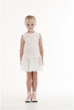 Kate Mack Girls Drop Waist Dress 145CC-18 IV/PK