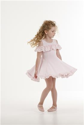 Kate Mack off shoulder summer dress 575PB-18 Pink