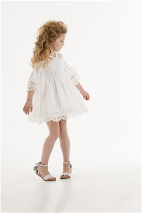 Kate Mack girls Dress 174BA-18 White