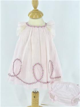 Kate Mack girls dress & panty 353LS-18 Pink