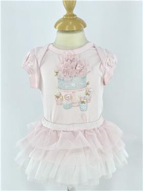 Kate Mack girls top & skort 364BQ-18 Pink