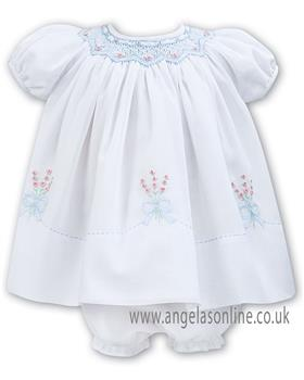 Sarah Louise baby girls dress 011050 W/B