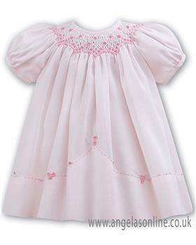Sarah Louise baby girls pink dress 011055