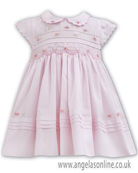 Sarah Louise baby girls dress 011100 Pink