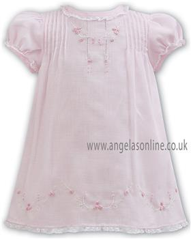 Sarah Louise baby girls dress 011059 Pink